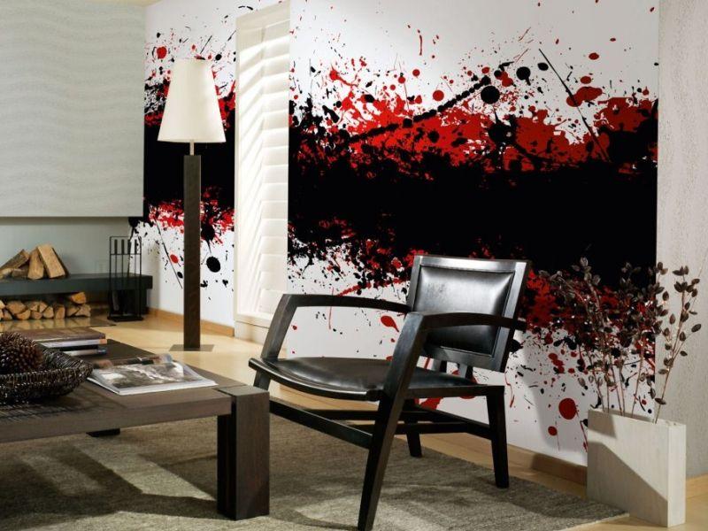 tapeten mit auff lligen mustern und avantgardistischen. Black Bedroom Furniture Sets. Home Design Ideas
