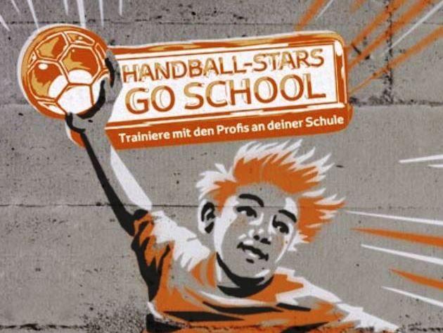 HANDBALL-STARS GO SCHOOL: Heiner Brand und Daniel