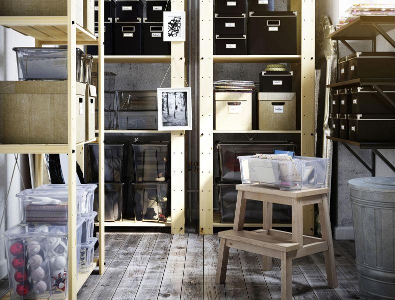 stauraum im keller wie kleidung akten und b cher das lagern gut berstehen. Black Bedroom Furniture Sets. Home Design Ideas