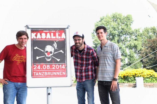 Kasalla geht am 24. August 2014 im Kölner Tanzbrunnen 'aff noh drusse'  - copyright: Alexander Weis / CityNEWS