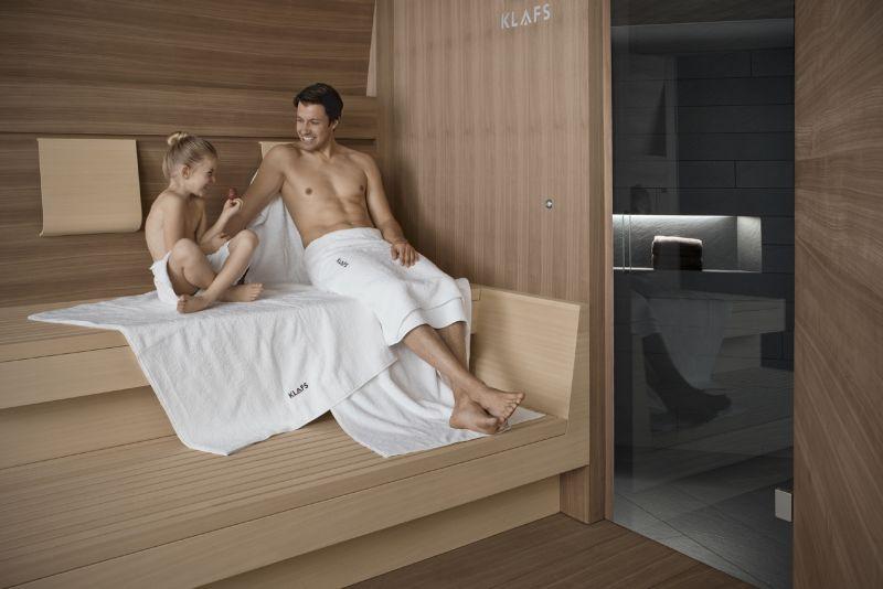 Ein Saunabad hat bei Kindern den gleichen positiven Effekt wie bei den Eltern. copyright: Klafs GmbH & Co. KG