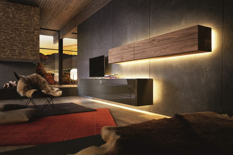Das Geheimnis vom Licht für ein sinnliches Wohngefühl: Möbel und Beleuchtung für ein sinnliches Wohngefühl copyright: hülsta / akz-o