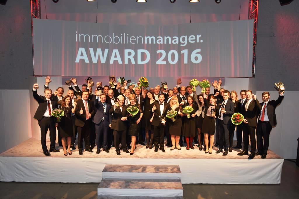 In 14 Kategorien wurden die immobilienmanager Awards 2016 bei einem großen Gala-Abend im Kölner Dock.One verliehen. Foto: immobilienmanager