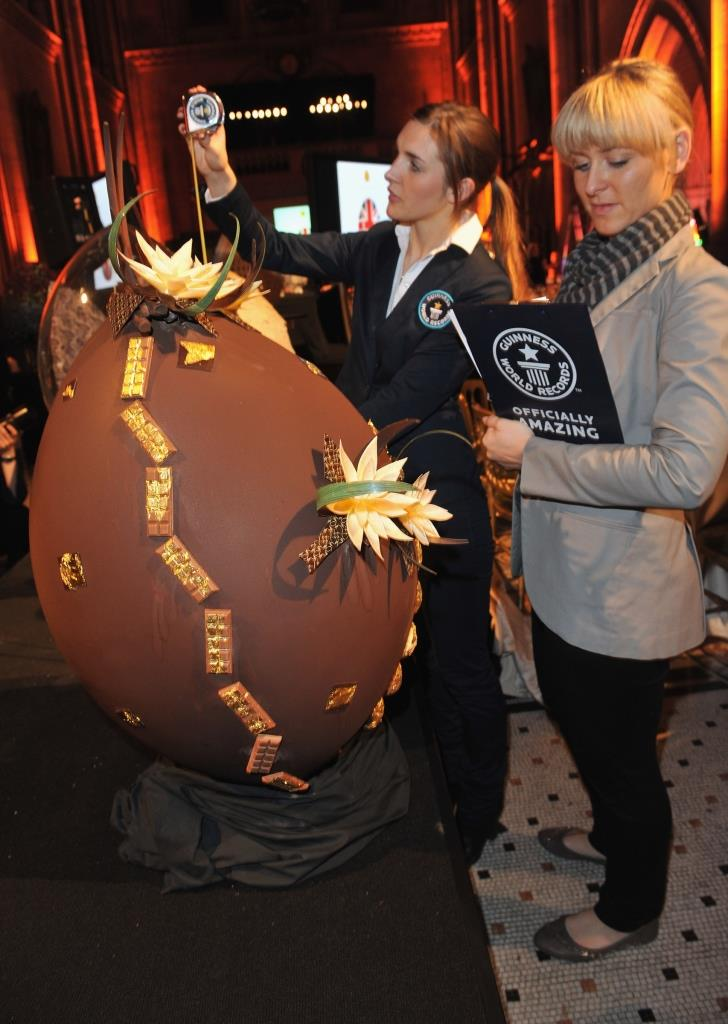 Teuerstes Schokoladen-Ei copyright: GUINNESS WORLD RECORDS