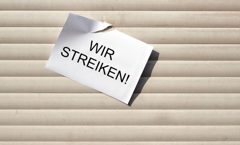 Die Gewerkschaft ver.di hat für Mittwoch, 21. März 2018, zu einem ganztägigen Warnstreik aufgerufen. copyright: s.media / pixelio.de