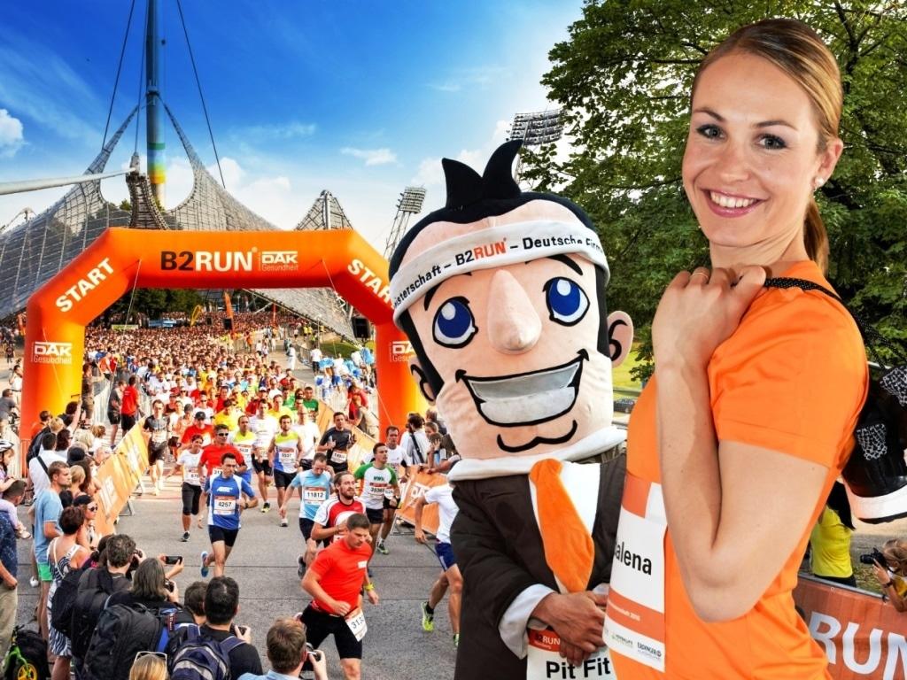 Prominente Botschafterin  Olympiasiegerin Magdalena Neuner copyright: Infront B2RUN GmbH