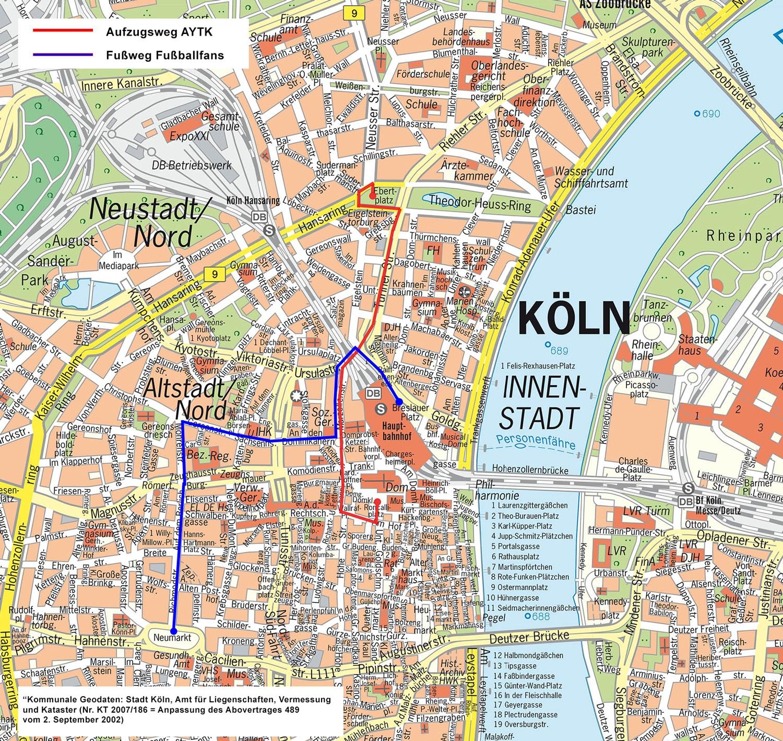 Aufzugswege copyright; Polizei Köln