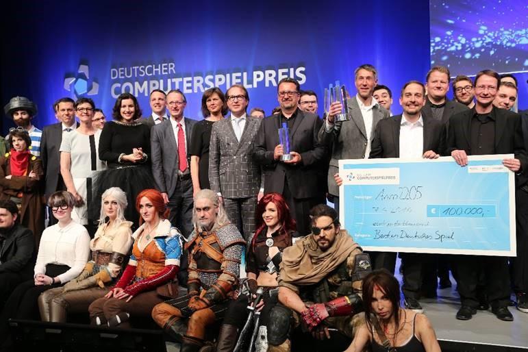 Die Gewinnern des Deutschen Computerspielpreises 2016 copyright: Gisela Schober/Getty Images