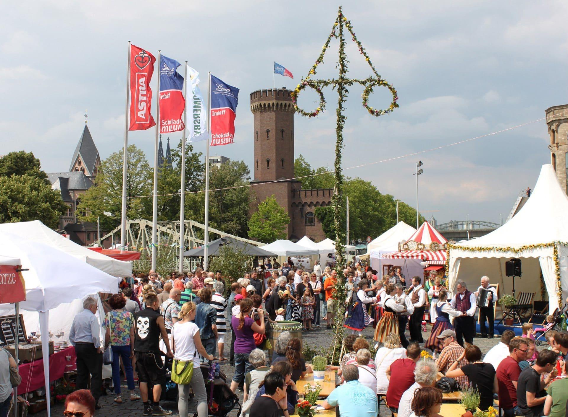 Kölner Mittsommerfest am Schokoladenmuseum im Rheinauhafen vom 15.6. bis 18.6.2017 - copyright: www.mittsommerfest-koeln.de