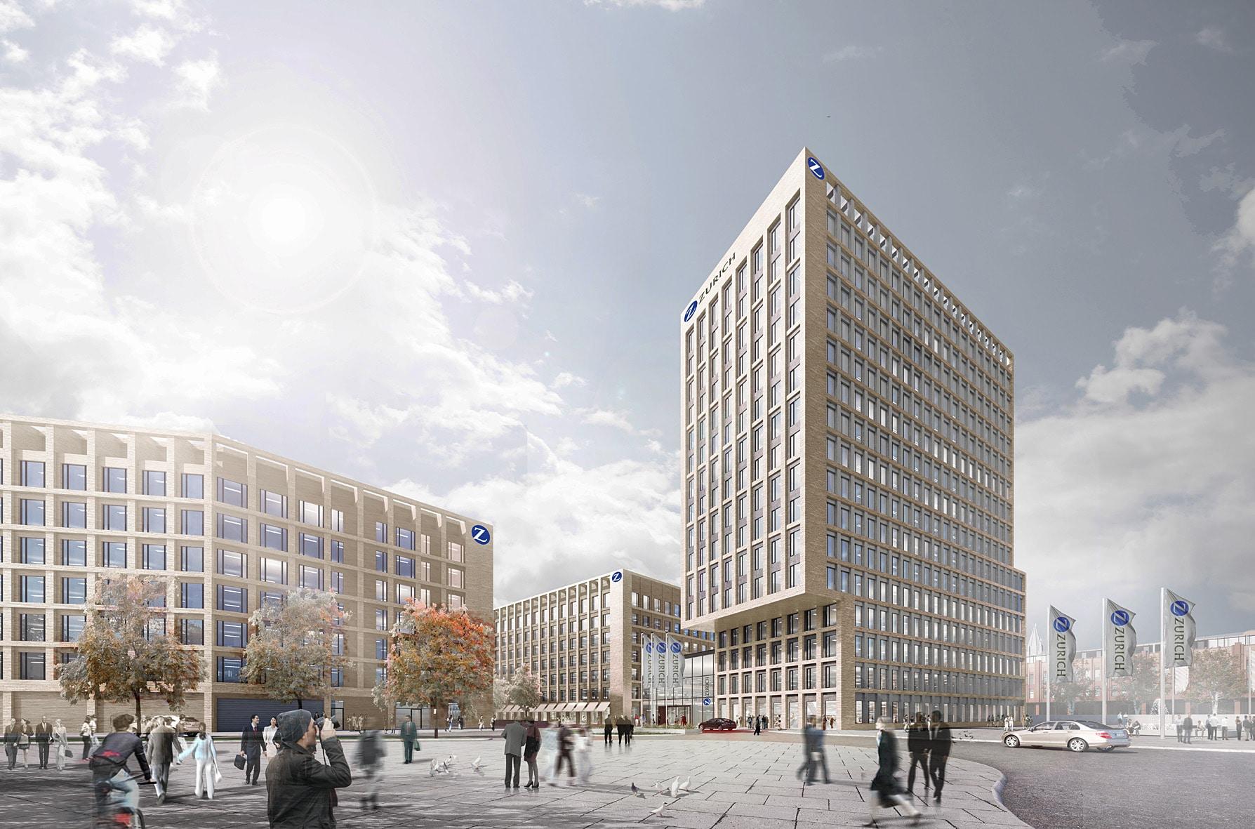 Versicherungskonzern zieht Direktionsstandorte Köln und Bonn 2019 in Köln Deutz zusammen copyright: KSP/SRE/ECE/HH-Vision