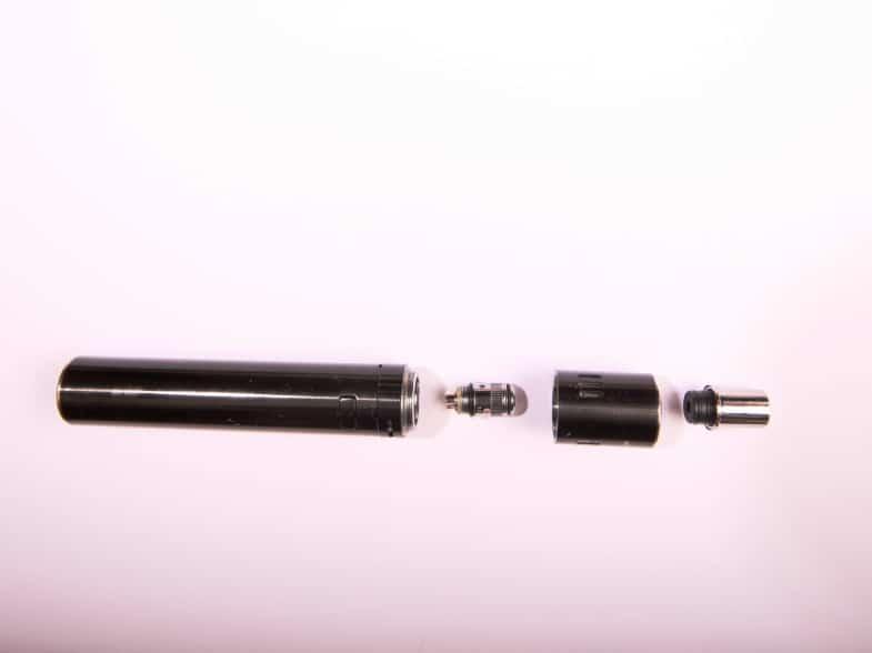 Beispielhafter Aufbau einer E-Zigarette copyright: Alex Weis / CItyNEWS