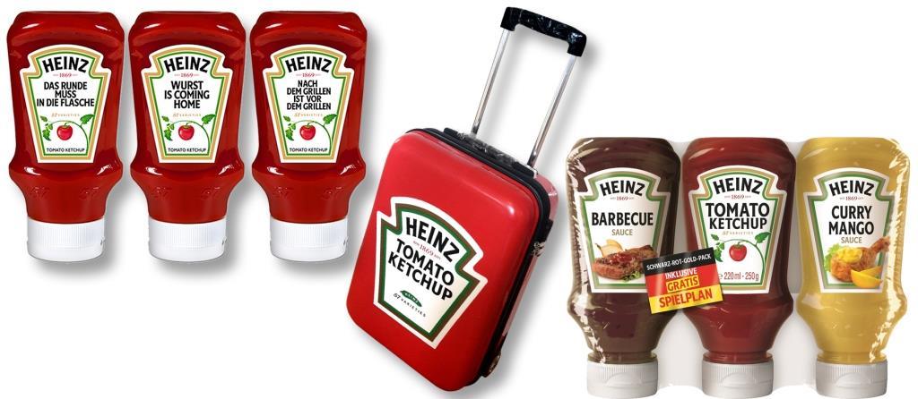HEINZ und CityNEWS verlosen einen Koffer und die Limited Edition des HEINZ Tomato Ketchup! Drei weitere Gewinner dürfen sich über die schwarz-rot-goldene Limited Edition freuen. copyright: PR