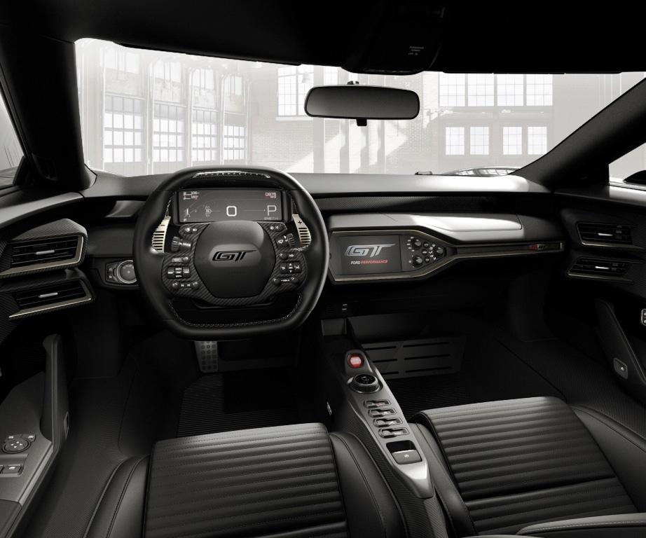Im Interieur zeugen insbesondere die Sportsitze aus Kohlefaser von der außergewöhnlichen Klasse des Ford GT '66 Heritage. copyright: Ford-Werke GmbH