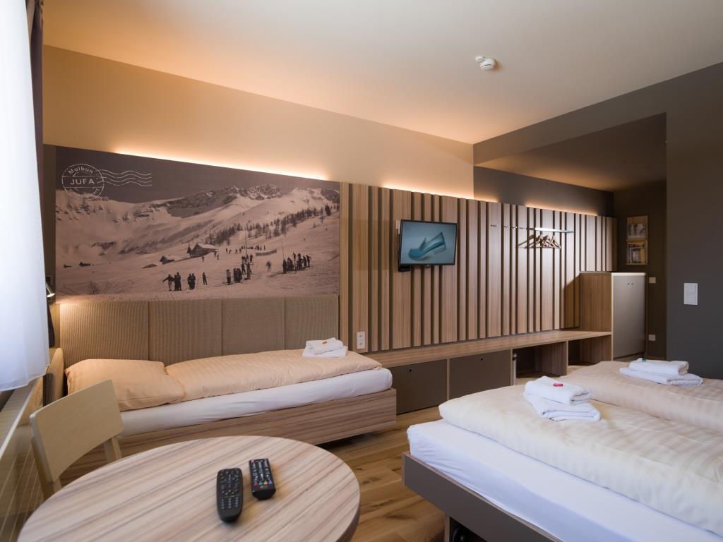 Das neue Familienhotel JUFA Malbun Alpin Resort eröffnete am 1. Februar 2016 mitten in den Liechtensteiner Alpen copyright: PR