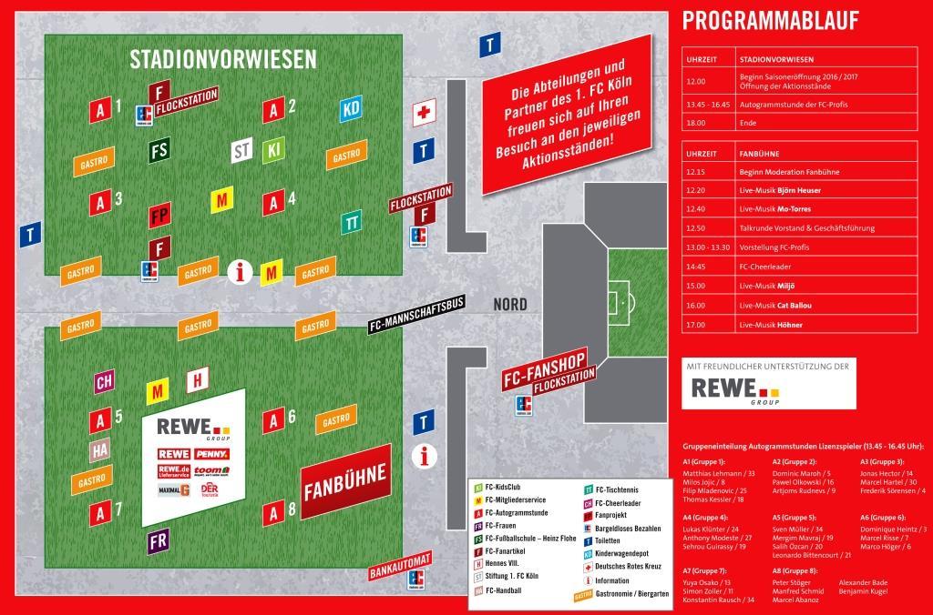 Lageplan Saisoneröffnunsfeier 1. FC Köln 2016/ 2017 copyright: 1. FC Köln
