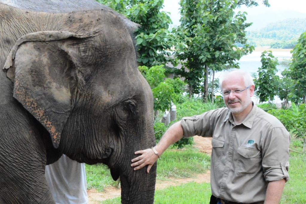 Elefantenkurator und Zoodirektor Prof. Theo B. Pagel freut sich über den Nachwuchs (Archivbild) - copyright: Kölner Zoo