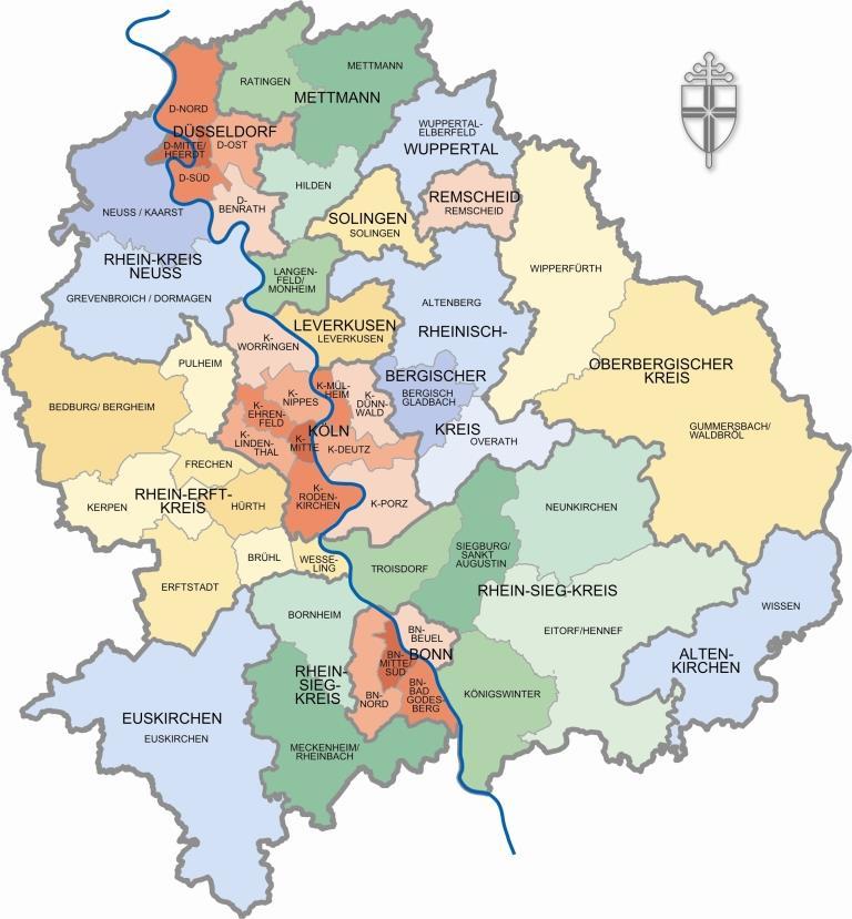 Dekanate des Erzbistums Köln copyright: bilder-erzbistum-bilder.de / Michael Kasiske