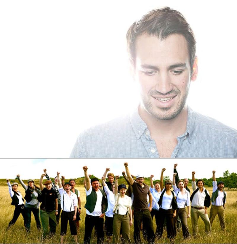 Max Weise und der Chor, der donnerstags probt copyright: Max Weise