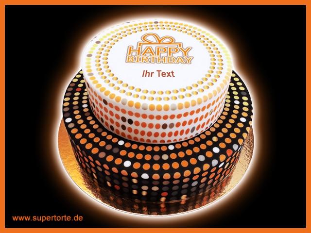 Die Motivtorten können zudem mit Text versehen werden. copyright: supertorte.de