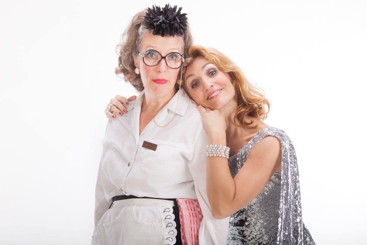 Große Klappe trifft auf große Stimme: Irmgard Knüppel und Marion Wilmer copyright: Irmgard Knüppel und Marion Wilmer