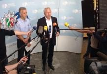 Kölns Polizeipräsident Jürgen Mathies war zufrieden mit dem Verlauf der Kurden-Demonstration copyright: Polizei Köln