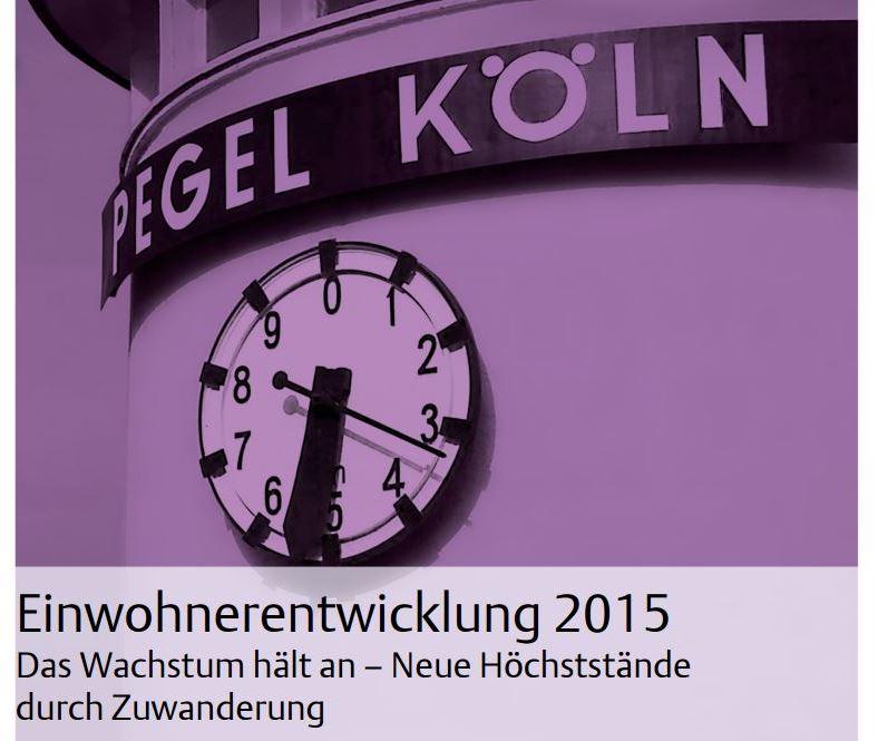 """Download der Einwohner- und Wanderungsstatistik """"Pegel Köln"""" copyright: Stadt Köln"""