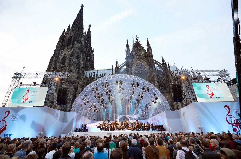 """Klassik und junge Talente vorm Kölner Dom - """"Eurovision Young Musicians"""" im September in Köln copyright: WDR / Claus Langer"""