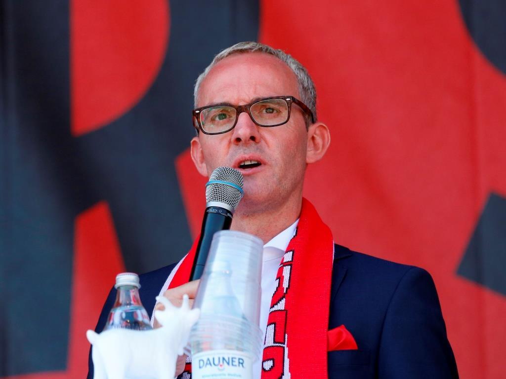 FC-Geschäftsführer Alexander Wehrle präsentierte die Zahlen des Vereins. - copyright: Alex Weis / CityNEWS