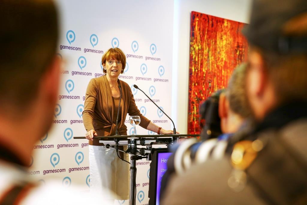 Henriette Reker, Oberbürgermeisterin der Stadt Köln und Vorsitzende des Aufsichtsrates der Koelnmesse, Veranstalter der gamescom copyright; Mathis Wienand / Getty Images for BIU