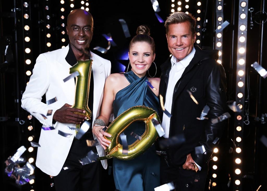 Die Jubiläumsstaffel mit neuen Talenten und einer neuen Jury, bestehend aus Bruce Darnell (l.), Victoria Swarovski und Dieter Bohlen.  Foto: RTL / Stefan Gregorowius