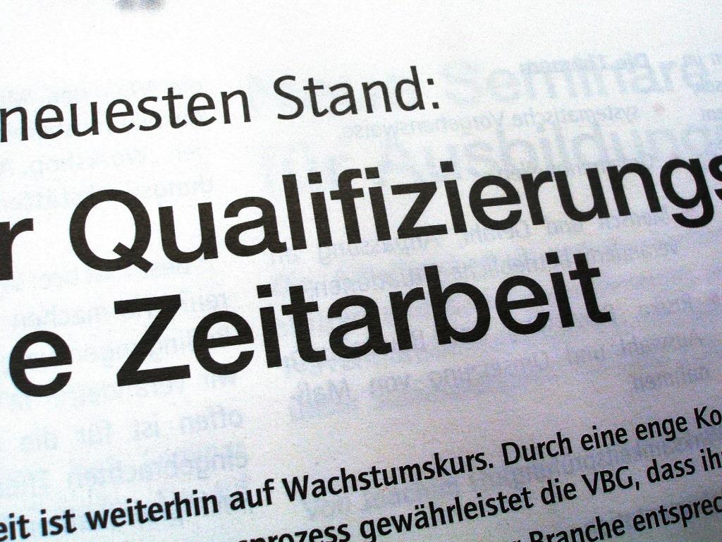 Zeitarbeit ermöglicht vielen Menschen einen Einstieg in den Arbeitsmarkt und ist für deutsche Unternehmen ein Flexibilitätsinstrument. copyright: Claudia Hautumm / pixelio.de