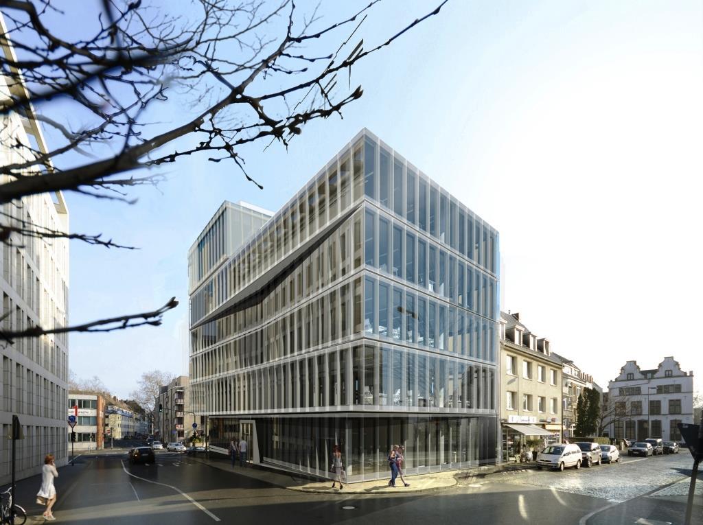 """DEG-Erweiterungsbau in der Kölner City (Entwurfsansicht). copyright: obs/DEG - Deutsche Investitions- und Entwicklungsgesellschaft / sop architekten, Bild: archilooks"""""""