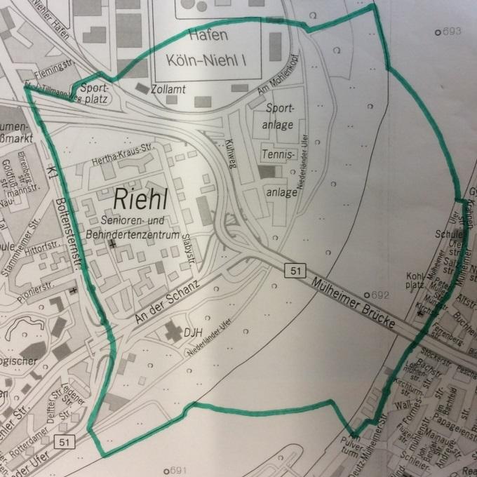 Evakuierungsbereich: Rund 3.500 Personen sind von den Evakuierungen im Grenzbereich der Stadtteile Niehl und Riehl betroffen. - copyright: Stadt Köln