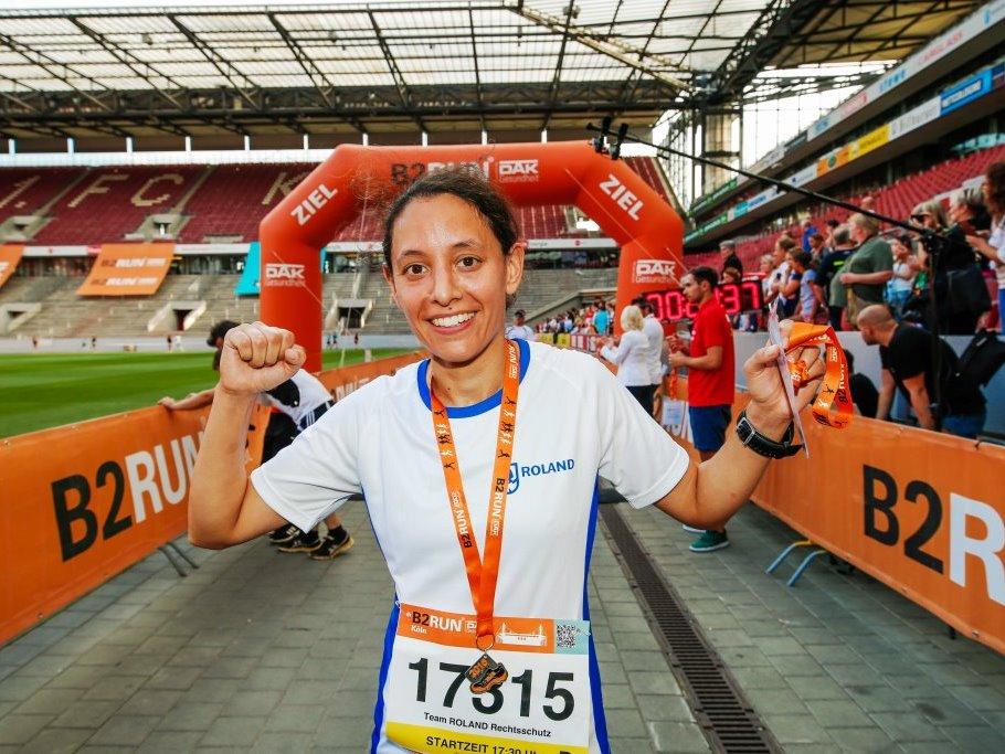 Neben Hobbyläufern und Nordic-Walkern ging ein Teil des Teilnehmerfeldes besonders sportlich-ambitioniert an den Lauf heran. copyright: Infront B2RUN GmbH / Stephan Schütze