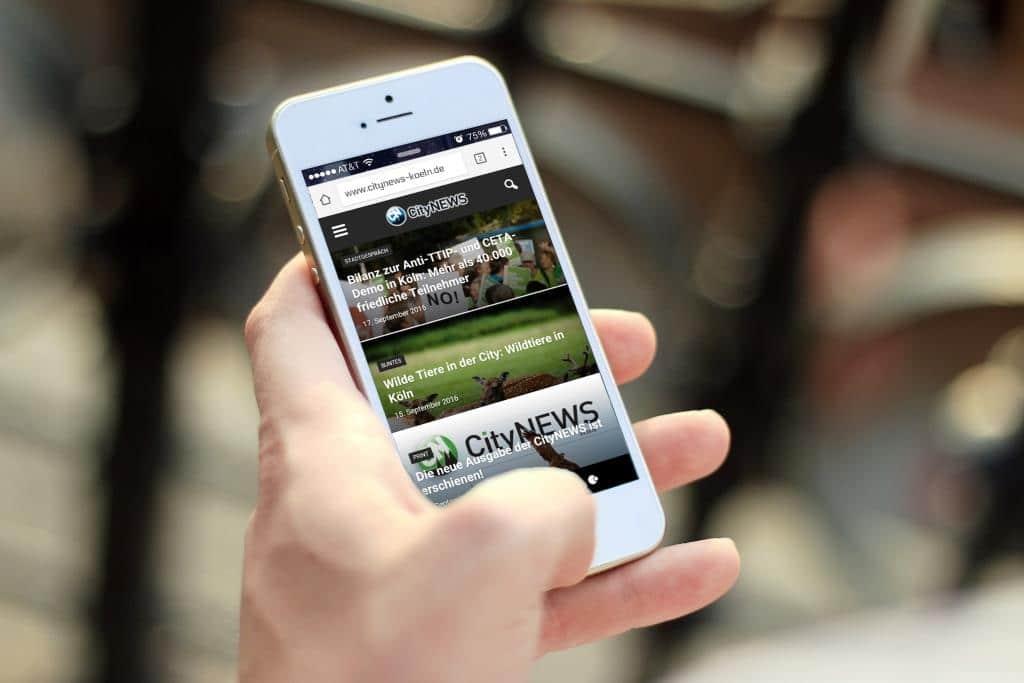 CityNEWS lässt sich zum Beispiel problemlos vom Smartphone, Tablet oder PC aufrufen. Die Seiten werden responsiv, je nach Endgerät optimal dargestellt. - copyright: CityNEWS
