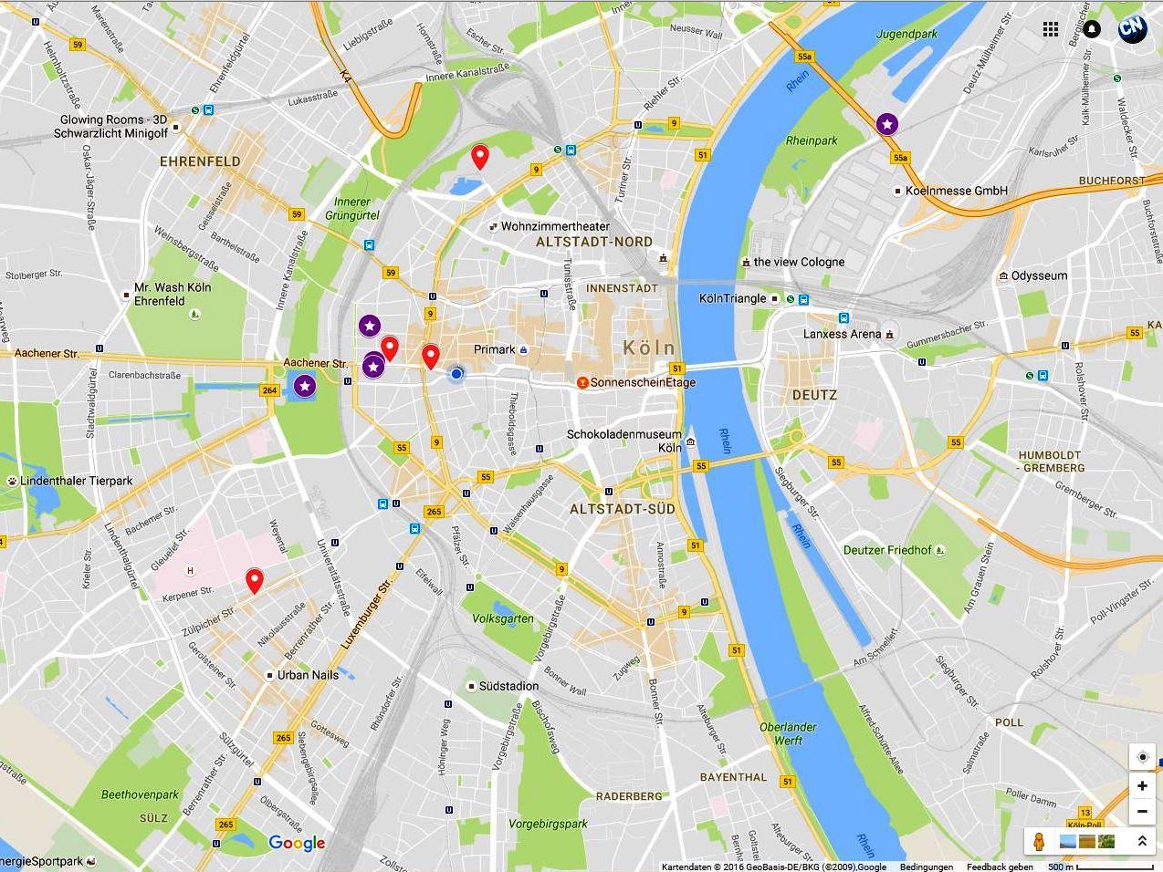 Google Maps Köln : der flirt index f r k ln an diesen orten funkt es am ~ Watch28wear.com Haus und Dekorationen