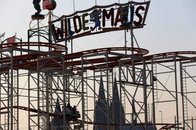 """Natürlich ist auch die """"Wilde Maus"""" auf der Kirmes in Köln-Deutz dabei! - copyright: Alex Weis / CityNEWS"""