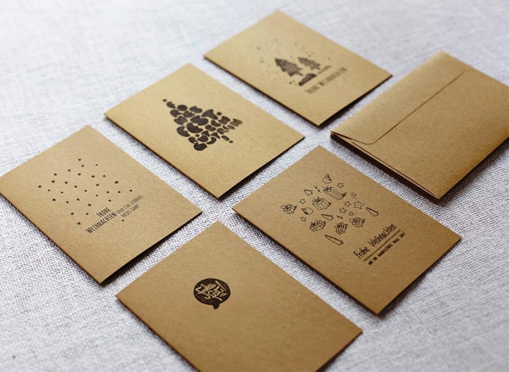 """Eco-Cards: Bewusst und umweltfreundlich Festtagsgrüße verschicken - Aktion """"Handbedruckte Weihnachtskarten"""" geht in die zweite Runde - copyright: Caroline Schaefer"""