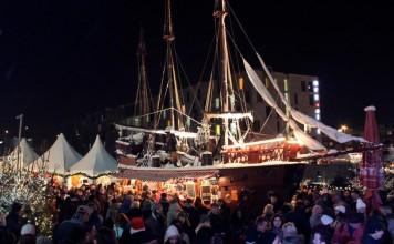 Weihnachten Ahoj: Kölner Hafen-Weihnachtsmarkt am Schokoladenmuseum copyright: Kölner Hafen-Weihnachtsmarkt