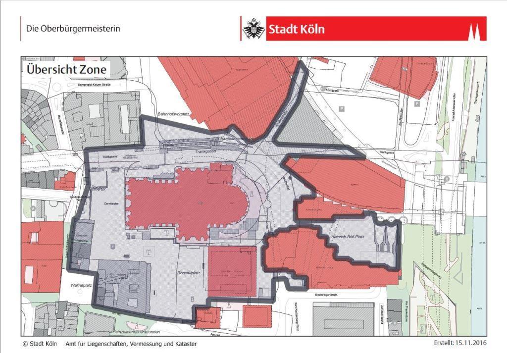 Böllerfreie Zone rund um den Kölner Dom - copyright: Stadt Köln