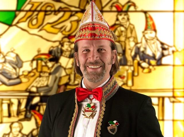 Zugleiter Christoph Kuckelkorn erläuterte im Rahmen der Vorstellung des Sessionsmottos beim Prinzenfrühstück im Gürzenich das Motto copyright: Festkomitee Kölner Karneval