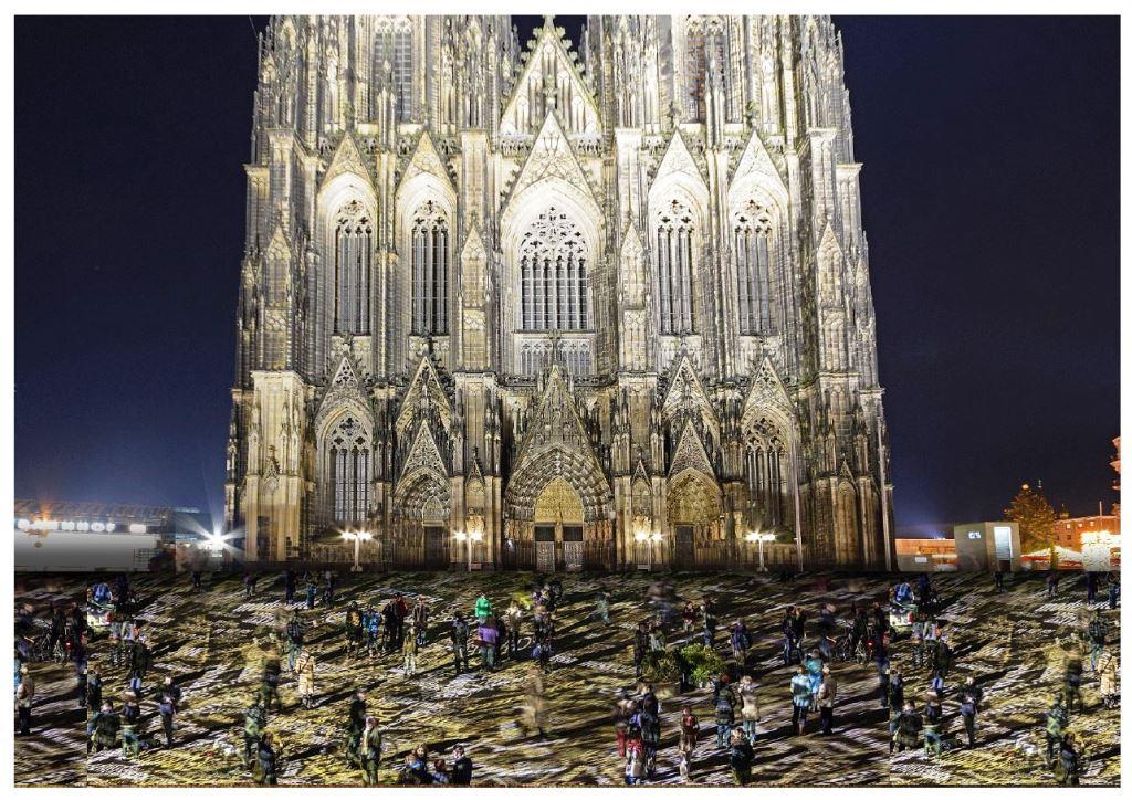 Time Drifts Cologne: Lichtkunst-Installation von Philipp Geist rund um den Kölner Dom - copyright: STUDIO PHILIPP GEIST / westermann kommunikation