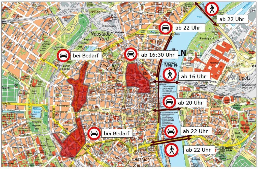 Infos zu den Sperrungen an Silvester - copyright: Stadt Köln