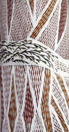 Rautenstrauch-Joest Museum – Kulturen der Welt 11. November 2017 bis 4. März 2018 Napuwarri Marawili Yathikpa (Heilige Stätte) [mit Detailvergrößerungen]2009, © Buku-Larrŋgay Mulka