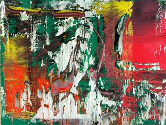 Museum Ludwig Gerhard Richter. Neue Bilder , 9. Februar bis 1. Mai 2017 Abb.: Gerhard Richter, Abstraktes Bild, 2016, Öl auf Aluminium, 40 x 50 cm © Gerhard Richter 2016
