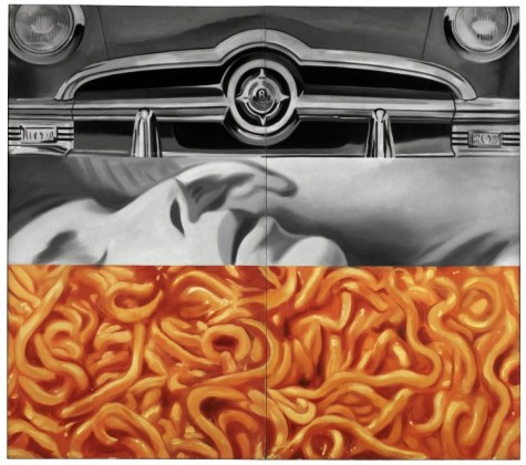 Museum Ludwig James Rosenquist. Painting as Immersion, 19. November 2017 bis 11. März 2018 Abb.: James Rosenquist, I Love You with My Ford, 1961, Öl auf Leinwand, 210,2 x 237,5 cm Moderna Museet, Stockholm © VG Bild-Kunst, Bonn 2016, Foto: Prallan Allsten / Moderna Museet-Stockholm