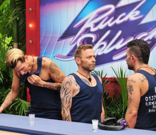 Tag 8 im Dschungelcamp: Jungs stellen sich der Dschungelprüfung und bechern ordentlich - Sarah Joelle rausgewählt - Foto: RTL / Stefan Menne Alle Infos zu Ich bin ein Star - Holt mich hier raus! im Special bei RTL.de