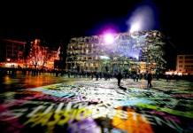 Projektionen und Lichteffekte auf der Domplatte - copyright: CityNEWS / Thomas Pera