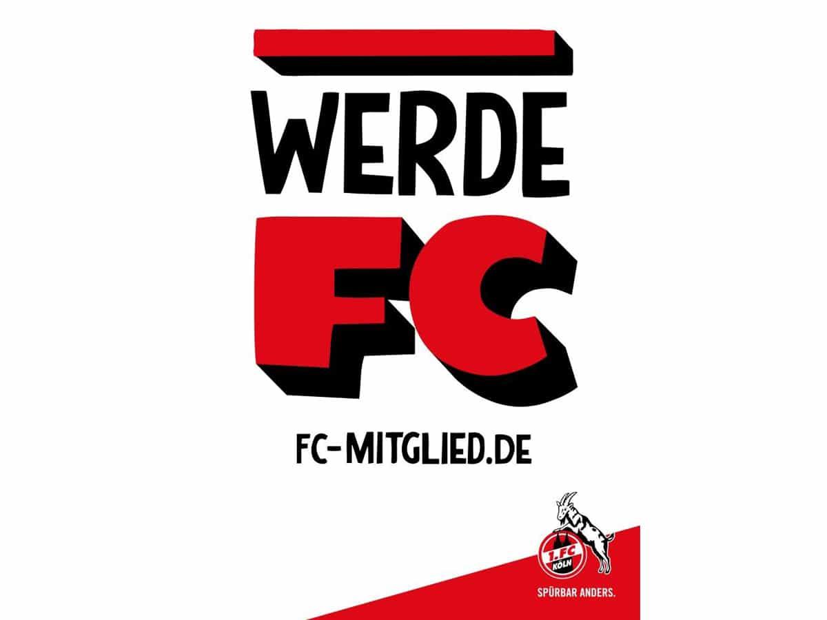 """11 Monate nach dem Start der Mitgliederkampagne """"Werde FC"""" hat der 1. FC Köln ein weiteres Etappenziel erreicht. - copyright: 1. FC Köln"""