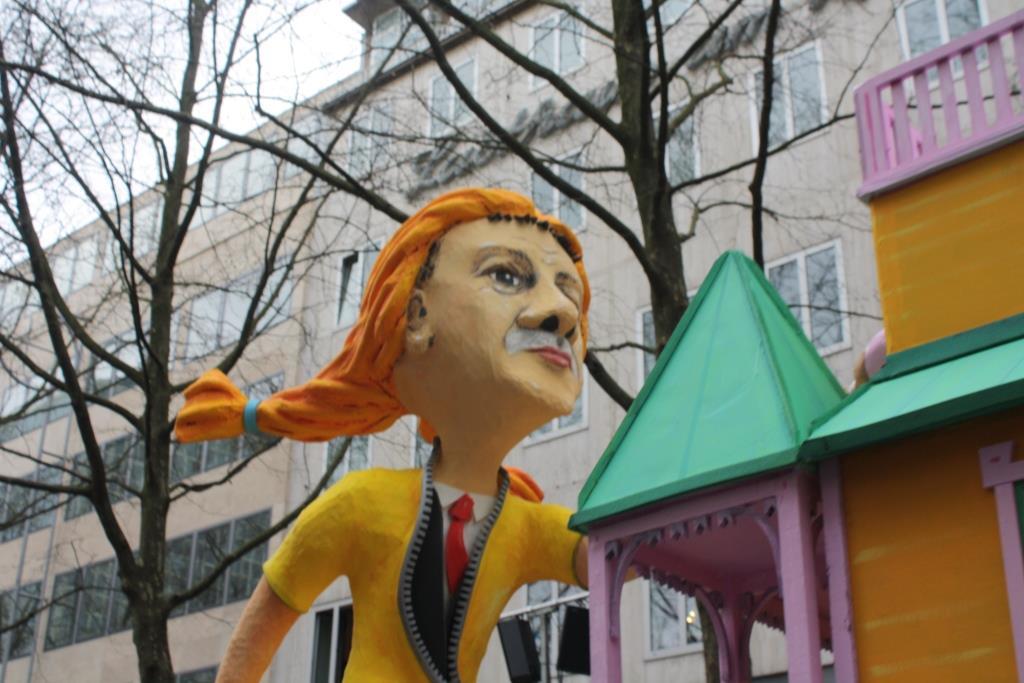 Erdogan als Pipi Langstrumpf beim Rosenmontagszug 2017 in Köln copyright: CityNEWS / Christian Esser